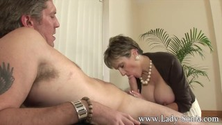 Preview 3 of Lady Sonia fucks 2 guys gets covered in cum