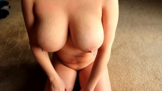 Awesome Blowjob At Dusk, Biggest Perfect Natural Tits Covered In Cum POV HD