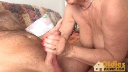 Grannie with huge tits!