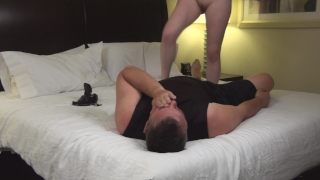 Stepdad Gives Big Titted 20 year old Stepdaughter a Creampie