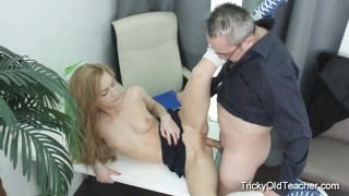 Tricky Old Teacher - Hot blonde babe fucks her teacher