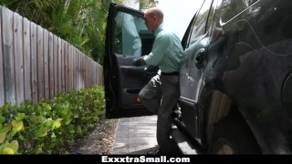 Preview 1 of ExxxtraSmall - Lovely Little Spinner Pounded By Her Step-Dad