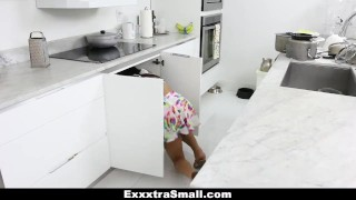 Preview 4 of ExxxtraSmall - Lovely Little Spinner Pounded By Her Step-Dad