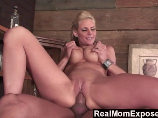 RealMomExposed - Mommy Sucking on a Fat Cock