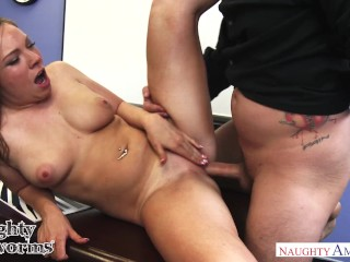 Horny college chick Tiff Bannister fucks her art teacher - Naughty America