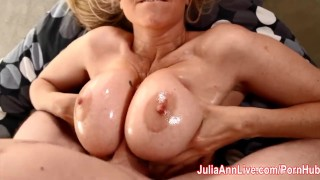 Hot Milf Julia Ann Lets Him Titty Fuck Her Big Tits!