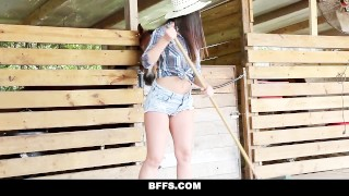 BFFS - Hot Country Girls Share A Cock Ass doggystyle