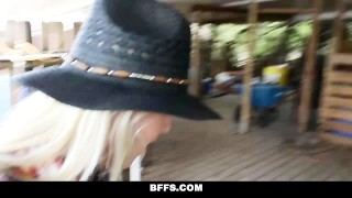 BFFS - Hot Country Girls Share A Cock Of big