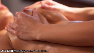 Hot Lesbian Masseuse is Wet for Darcie Dolce Tight shaved