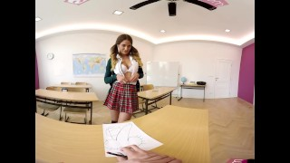 VR Bangers-360°VR Foreign exchange student FUCKED HARD on Teacher's Desk