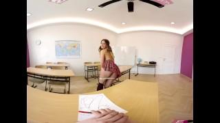 VR Bangers-360°VR Foreign exchange student FUCKED HARD on Teacher's Desk porno