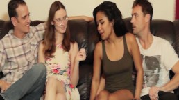 Loni Legend has always wanted sum white dick so her n a friend swap hubbys
