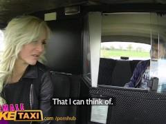 FemaleFakeTaxi Busty czech driver gets a big cock
