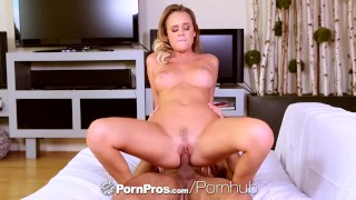 PornPros - Alexis Adams rides a cock after playing with her dildo