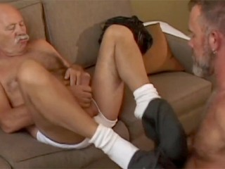Super Hung Older Daddy Fucks Furry Younger Daddy