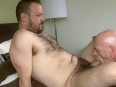 Big Bear and Grandpa Fuck in the Bedroom