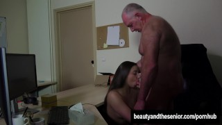 Teen Carla gets fucked and facialied in the office Bang group