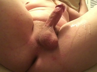 Horny Chubby Puppy Boy Cums All Over His Thick Thigh