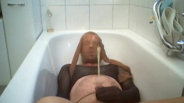 Nylon Encasement Piss in Bathroom