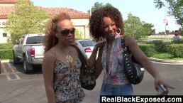 RealBlackExposed - Melrose Foxxx and Misty Stone Share a BBC