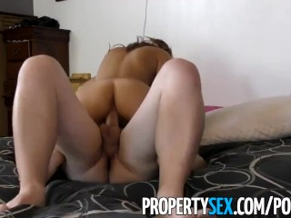 PropertySex - Flirty real estate agent cancels open house to fuck client