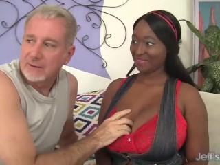 Ebony plumper Marie Leone gets fucked