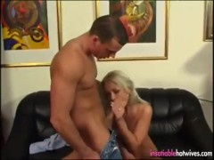 Blonde Hotwife Gets Her Married Pussy Fucked