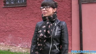 PublicAgent Russian creampied outdoors for cash Rubino muslim