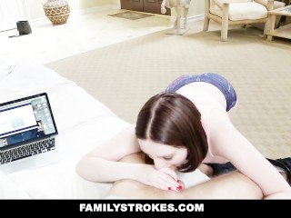 FamilyStrokes – Cumming Home To New Step Sister