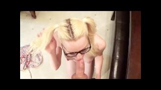 POV huge facial in the Kitchen - OurDirtyLilSecret