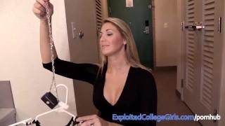 Big Boob Blonde Babe Amazing Porn Debut