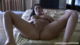 Home video masturbation with London Keyes