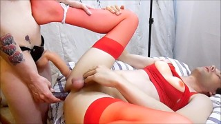 And sexy fucked and crossdresser hot anal pegged adult crossdresser