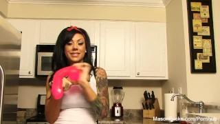 A big kitchen toy in busty rides the moore mason raven puba