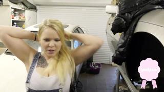 KFZ Praktikantin gefickt Creampie German Teen Deepthroat Luna Love cumshot