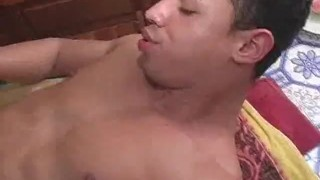 Ass Fucking Latinos Ends With Cumshots  latino twunk men muscle gay sex hardlatingays ass fucking bareback cumshot wanking blowjobs kitchen