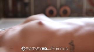 FantasyHD - Sabrina Banks fucks after milky bath