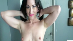 Slut Jennifer White gets on her knees and suck a small cock and gets a load