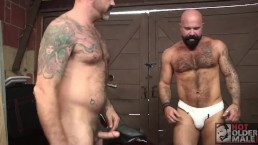 Hairy Muscle Bear Victor West Takes Scotty's Fat Cock