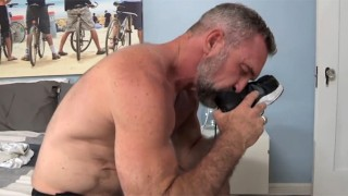 Sexy Daddy Peter Rough Strokes His Sweaty Cock