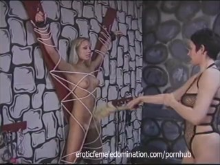 Perfect blonde girl experiences pain like never before...
