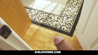 Preview 1 of SisLovesMe - Teasing my step sister with cock