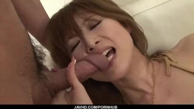 Dashing porn scenes along cock sucking Rika Sakurai 17