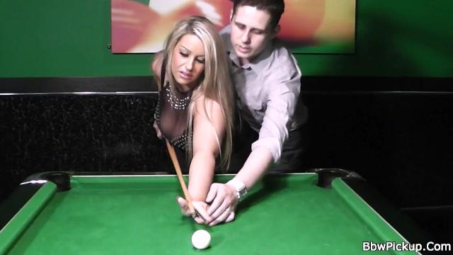 Blonde bbw in nylons gets slammed on pool table 8