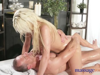 Massage Rooms Czech blonde with big natural tits has intense orgasm