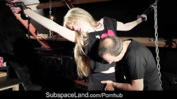 Kinky skinny blonde teen tied up punished submissive fuck