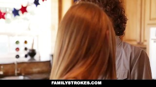 Preview 4 of FamilyStrokes - 4th Of July BBQ Turns Into Step Sibling Fuckfest