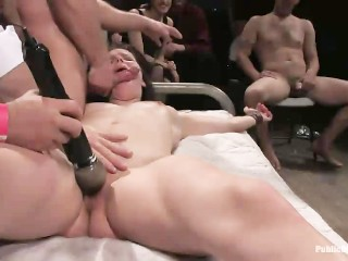 Bobbi Starr Helpless and Destroyed by Cocks and Crowd