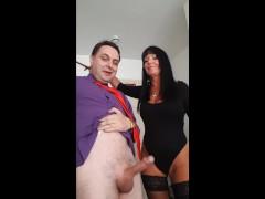 Ballbusting: Donna Africa kicks Andrea Diprè in the balls till he cums!