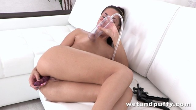 Hot bitch Kristall plays with her nice kitty 2